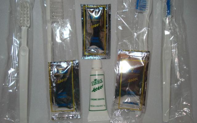 Escovas embaladas